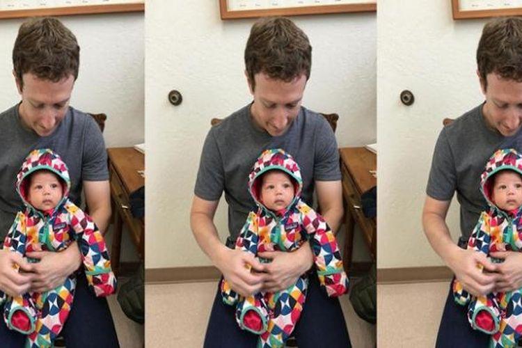 Mark Zuckerberg dan putrinya, Max.