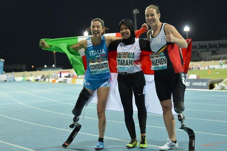 foto2- Karisma Evi Tiarani memecahkan rekor dunia dalam kejuaraan World Para Athletics Championships 2019, Dubai, Uni Emirat Arab pada Rabu (13/11/2019).