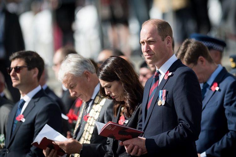 Pangeran William berada di Selandia Baru untuk menghadiri peringatan Anzac Day, Kamis (25/4/2019). Dia dijadwalkan bertemu dengan korban teror Christchurch. (Twitter/Kensington Palace)