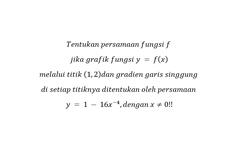 Menentukan Persamaan Fungsi f jika Garis Singgung Ditentukan