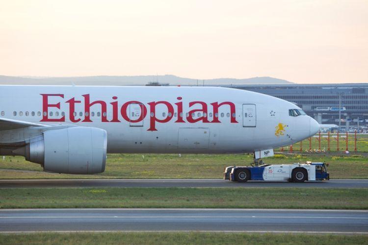 Pesawat maskapai Ethiopian Airlines. (Shutterstock)