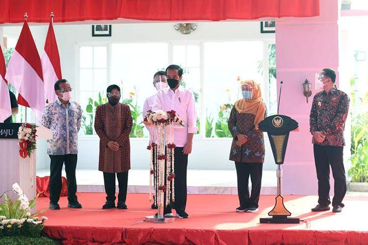 Presiden Jokowi meresmikan PSEL Benowo Surabaya, Kamis (6/5/2021).