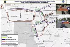 Ada Proyek Terowongan di Depan Masjid Istiqlal, Ini Pengalihan Arus Lalu Lintasnya