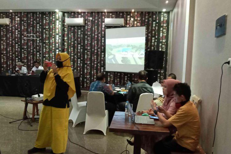 Rapat koordinasi tim RSUD, KPU, BNN dan IDI terkait pilkada 2020 di Bangka Belitung, Jumat (7/8/2020).