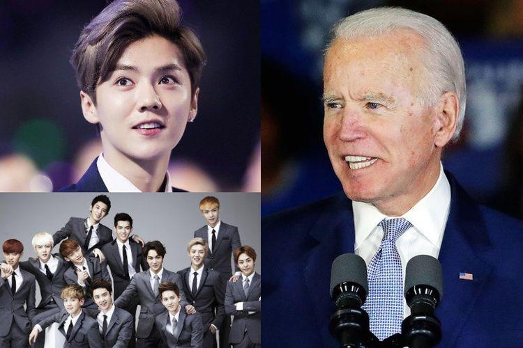 Mantan personel EXO, Luhan jadi trending di politik Amerika setelah Wakil Presiden Joe Biden salah ucap Wuhan Virus jadi Luhan Virus