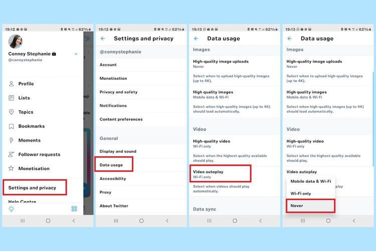 Cara mematikan autoplay video di aplikasi Twitter