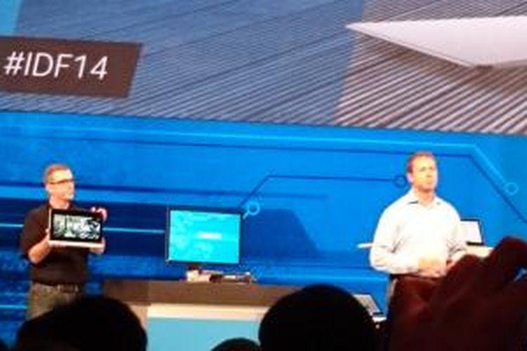 Kirk Saugen,  Senior VP and GM PC Client Group Intel mendemokan PC dan laptop berbasis Skylake, Selasa (9/9/2014).