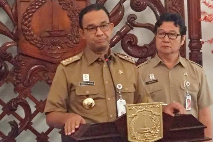 Gubernur DKI Jakarta Anies Baswedan di Balai Kota, Selasa (21/8/2018).