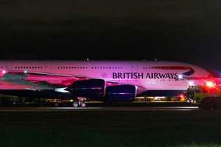 Sebuah pesawat komersial British Airways mendarat darurat di Vancouver, Kanada, Selasa (25/10/2016) malam WIB. Sebanyak 25 penumpang dan kru pesawat dirawat di rumah sakit kota itu.
