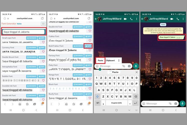 Cara membuat font unik untuk WhatsApp, Facebook, dan Instagram