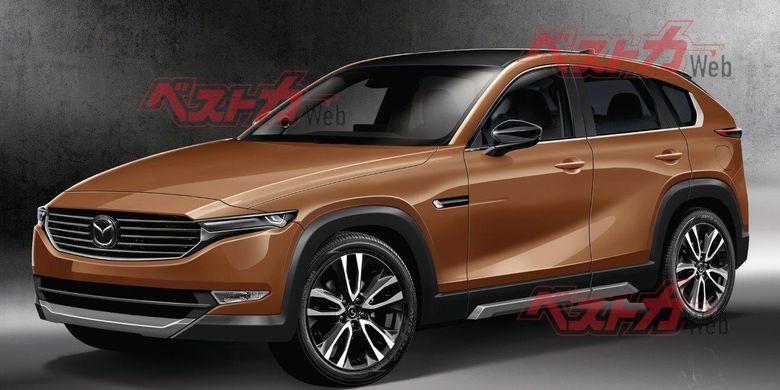 Hasil olah digital Mazda CX-5 terbaru.