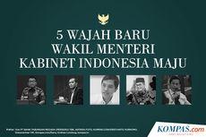 INFOGRAFIK: 5 Wajah Baru Wakil Menteri Kabinet Indonesia Maju