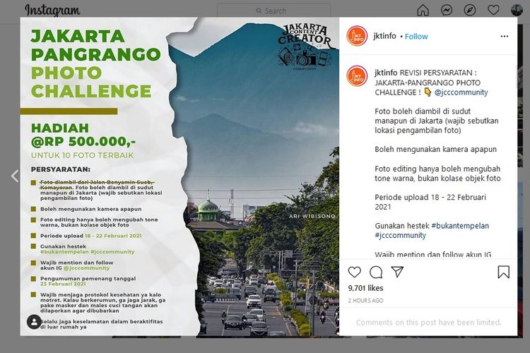 Jakarta-Pangrango Photo Challenge