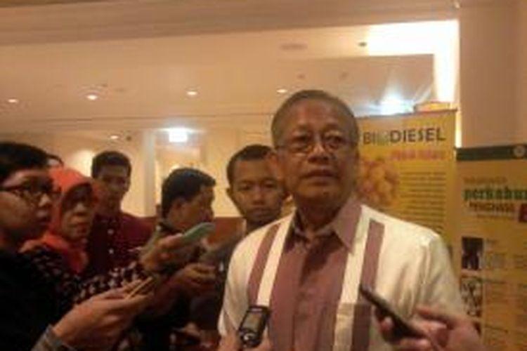 Wakil Menteri Pertanian Rusman Heriawan, usai membuka workshop Bahan Bakar Nabati di Jakarta, Rabu (18/9/2013).