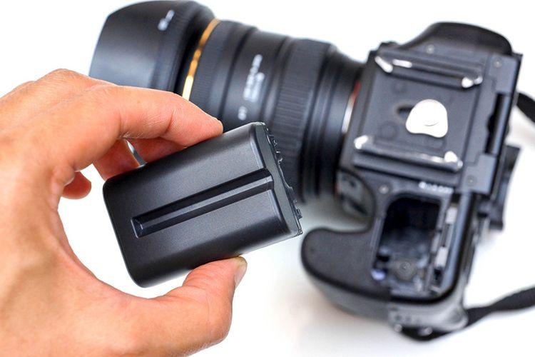 Ilustrasi baterai kamera.