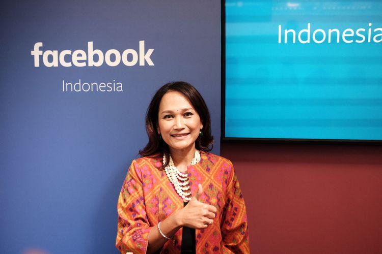 Country Director Facebook Indonesia, Sri Widowati, saat pembukaan kantor Facebook di Indonesia, Senin (14/8/2017)