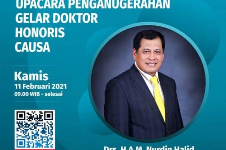 Penganugerahan gelar doctor honoris causa kepada Nurdin Halid