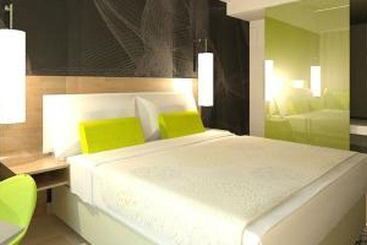 Salah satu tipe kamar di Hotel Best Western Hariston.