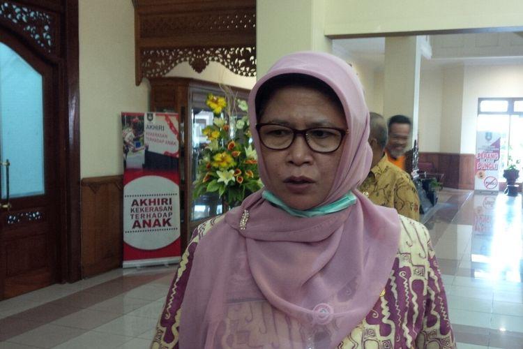Kepala DKK Surakarta Siti Wahyuningsih ditemui di Balai Kota Surakarta, Jawa Tengah, Rabu (18/3/2020).