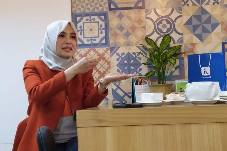 Direktur Utama PT BTPN Syariah (KOMPAS100: BTPS) Ratih Rachmawaty ketika menjadi pembicara di KOMPAS100 CEO Talk, Jumat (17/1/2020).