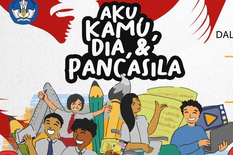 Poster lomba memperingati Hari Lahir Pancasila.