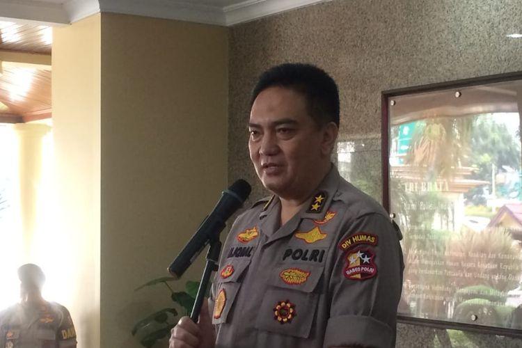 Kepala Divisi Humas Polri Irjen M Iqbal di Mabes Polri, Jakarta Selatan, Kamis (13/6/2019).
