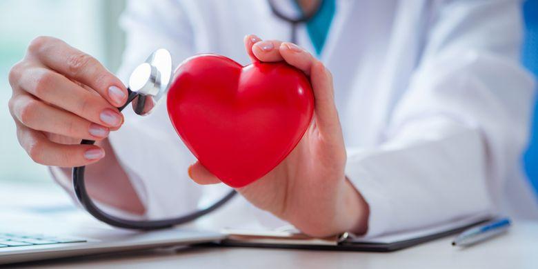 Ilustrasi penyakit jantung koroner atau arteri koroner.
