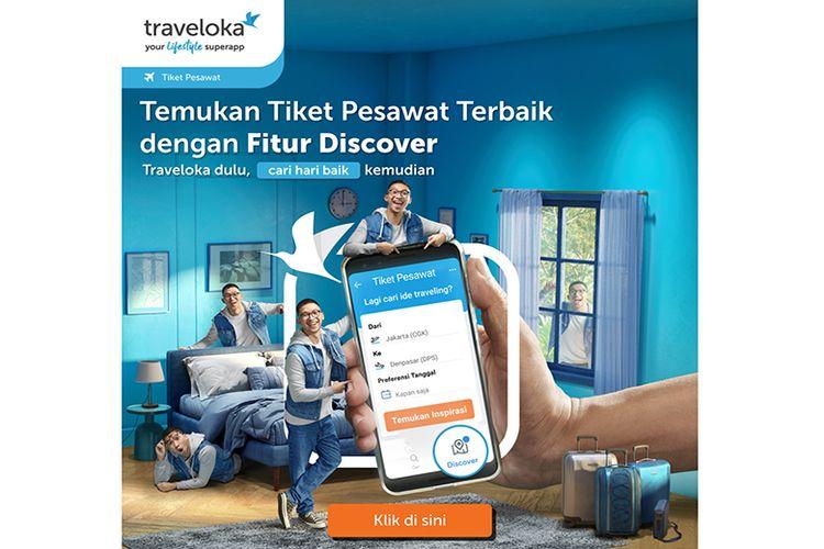 Fitur Discover pada Traveloka Lifestyle Superapp.