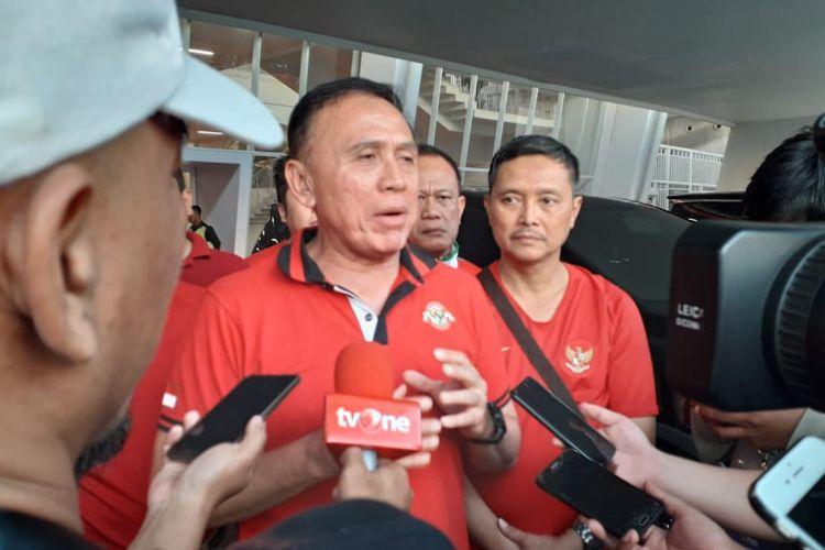 Ketua Umum PSSI, M Iriawan alias Iwan Bule, hadir dalam laga final leg pertama Piala Indonesia 2018 yang mempertemukan Persija Jakarta vs PSM Makassar di Stadion Utama Gelora Bung Karno (21/7/2019).