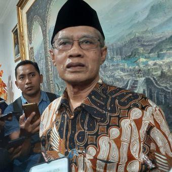 Ketua Umum PP Muhammadiyah Haedar Nasir di kantor Pusat Dewan Dakwah Muhammadiyah, Jakarta, Senin (16/12/2019).