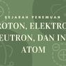 Sejarah Penemuan Proton, Elektron, Neutron, dan Inti Atom