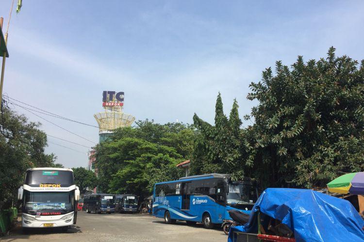 Terminal Depok pasca pemindahan angkutan umum ke terminal sementara, Kamis (2/8/2018).