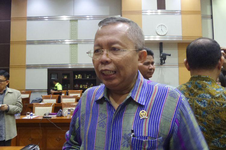 Anggota Komisi III DPR dari Fraksi Partai Persatuan Pembangunan (PPP), Arsul Sani di Kompleks Parlemen, Senayan, Jakarta, Rabu (29/3/2017).