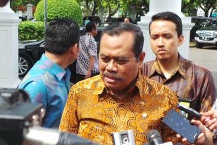 Jaksa Agung Muhammad Prasetyo saat berada di Istana Kepresidenan, Jumat (4/12/2015).