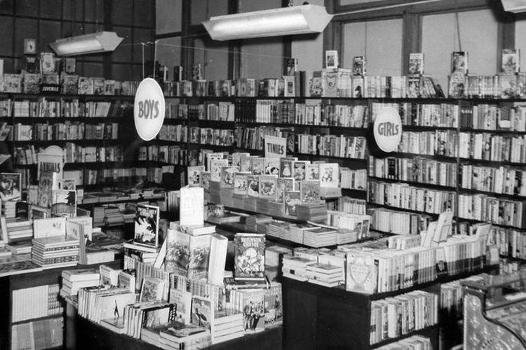 Toko Buku Fullers pada masa lalu. (ABC)