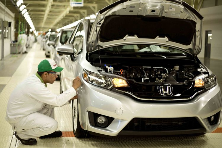 Ilustrasi Pabrik Honda