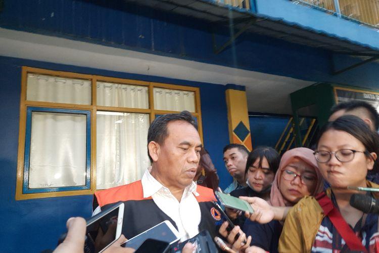 Sekretaris Daerah DKI Jakarta Saefullah di Pintu Air Manggarai, Jakarta Pusat, Selasa (25/2/2020)