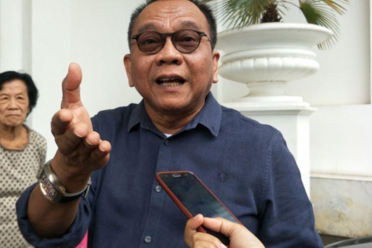 Wakil Ketua DPRD DKI M. Taufik di Balai Kota DKI Jakarta, Selasa (12/12/2017).