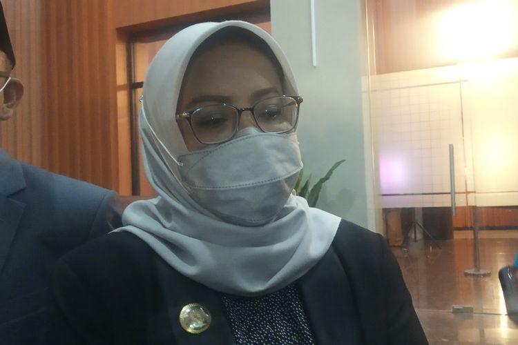 Bupati Bogor Ade Yasin ketika dimintai tanggapan pembubaran FPI usai rapat paripurna di DPRD Kabupaten Bogor, Jawa Barat, Rabu (30/12/2020).