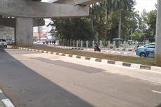 Sempat Viral, Jalan Berlubang di Bawah Stasiun MRT Blok M Diperbaiki