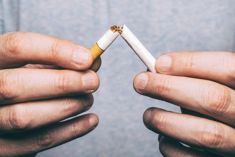 Ilustrasi berhenti merokok