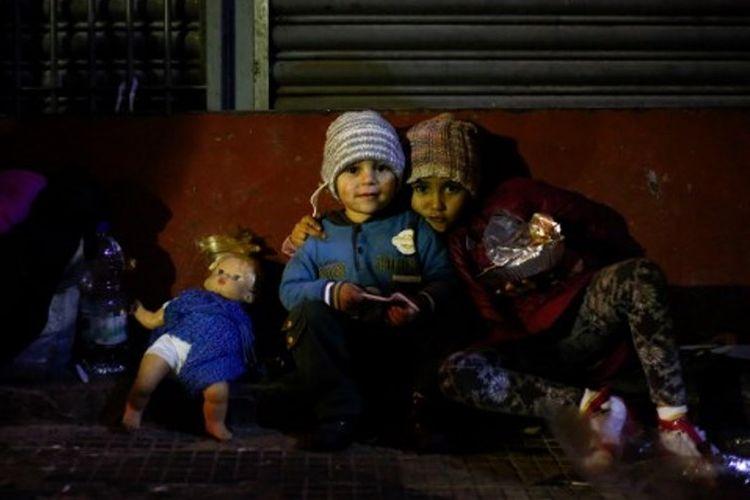 Potret kemiskinan yang dialami masyarakat termasuk anak-anak di Sao Paolo, Brasil.