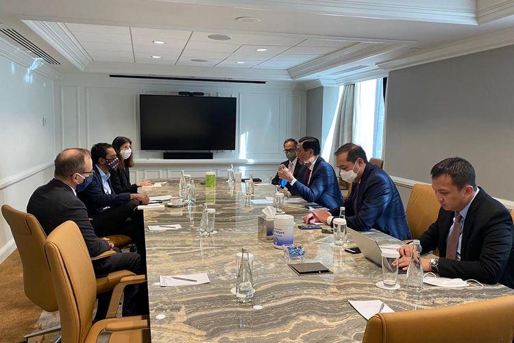 Menko Bidang Kemaritiman dan Investasi Luhut Binsar Pandjaitan bertemu dengan sejumlah pejabat penting di AS, termasuk para tokoh politik Partai Republik dan Demokrat di Washington DC, Selasa (17/11/2020).