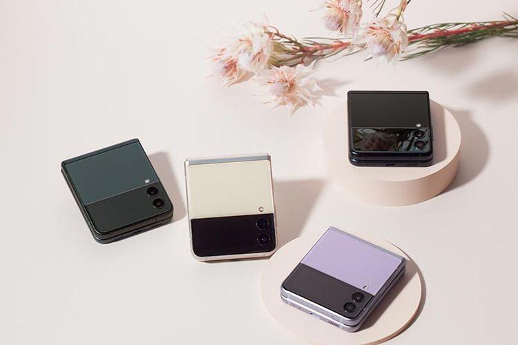 Samsung Galaxy Z Flip3 memiliki empat varian warna.