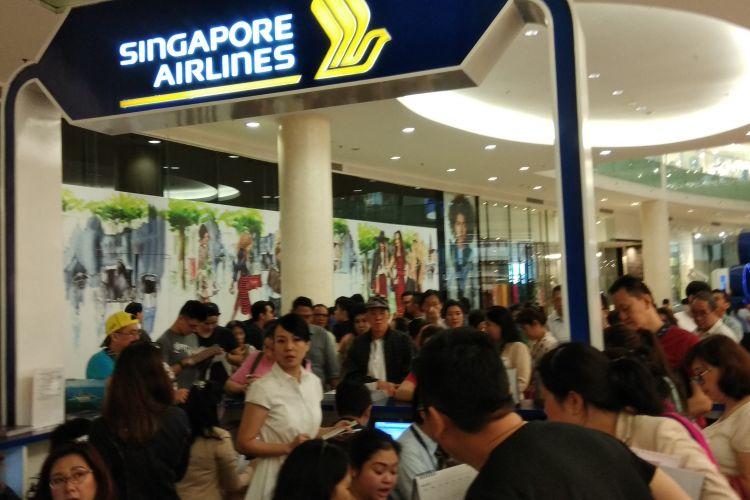 Singapore Airlines - BCA Travel Fair 2017 di Gandaria City Mall, Jakarta