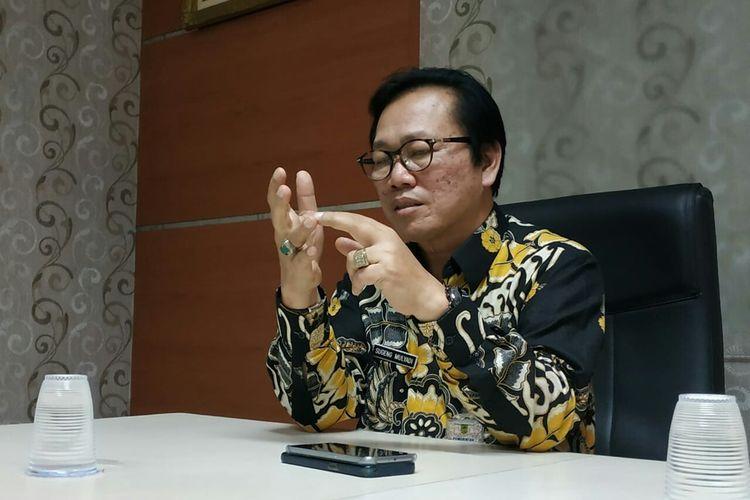 Direktur RSUD dr Wahidin Sudiro Husodo, Kota Mojokerto, Jawa Timur, dr Sugeng Mulyadi, saat ditenui di kantornya, Rabu (2/10/2019).
