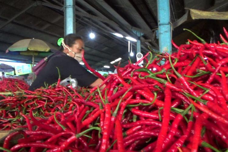 Harga cabai di Kota Salatiga mencapai Rp 120.000 per kilogram.