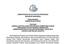 KKP Umumkan Jadwal Daftar Ulang dan Tes SKD CPNS 2019, Ini Rinciannya