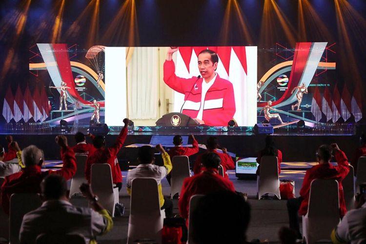 Presiden Joko Widodo saat memberikan sambutan pembukaan Haornas 2020.