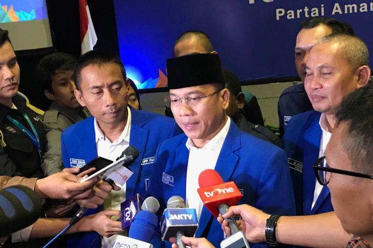 Ketua DPP PAN Yandri Susanto sebelum Rapat Kerja Nasional (PAN) untuk tentukan arah di Pilpres 2019, di Hotel Sultan, Jakarta, Kamis (9/8/2018).